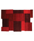 Collage red wool rug 120 x 180cm Sale - flair rugs Sale