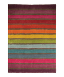 Candy multi-colour wool rug 80 x 150cm