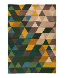 Prism green wool rug 120 x 170cm