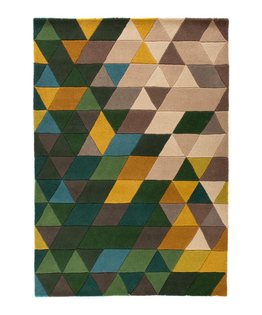 Prism green wool rug 160 x 220cm Sale - flair rugs