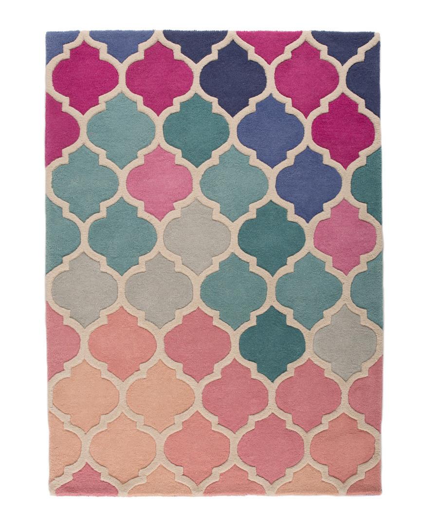 Rosella pink wool rug 80 x 150cm Sale - flair rugs