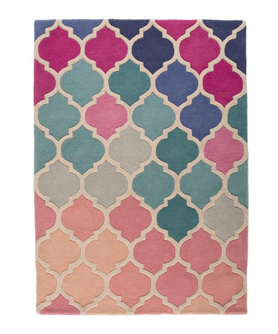Rosella pink wool rug 120 x 170cm Sale - flair rugs
