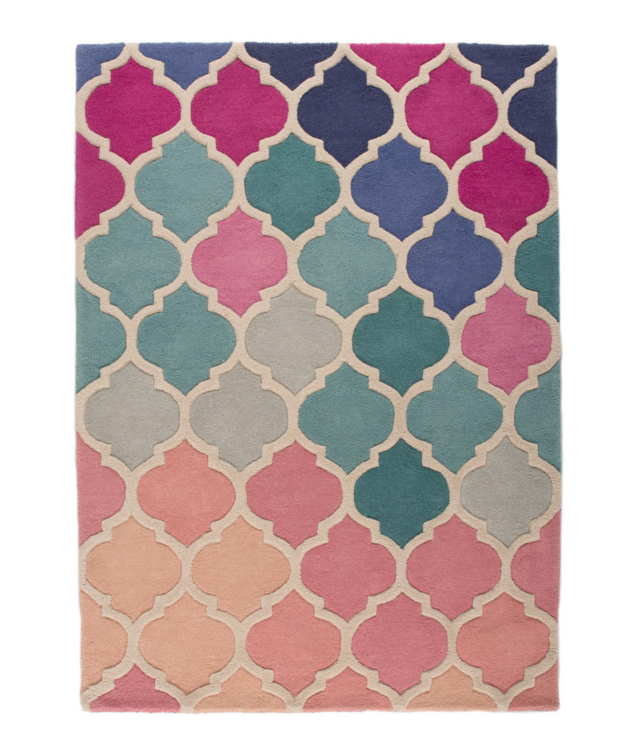 Rosella pink wool rug 160 x 230cm Sale - flair rugs