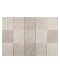 Blocks beige wool rug 75 x 150cm
