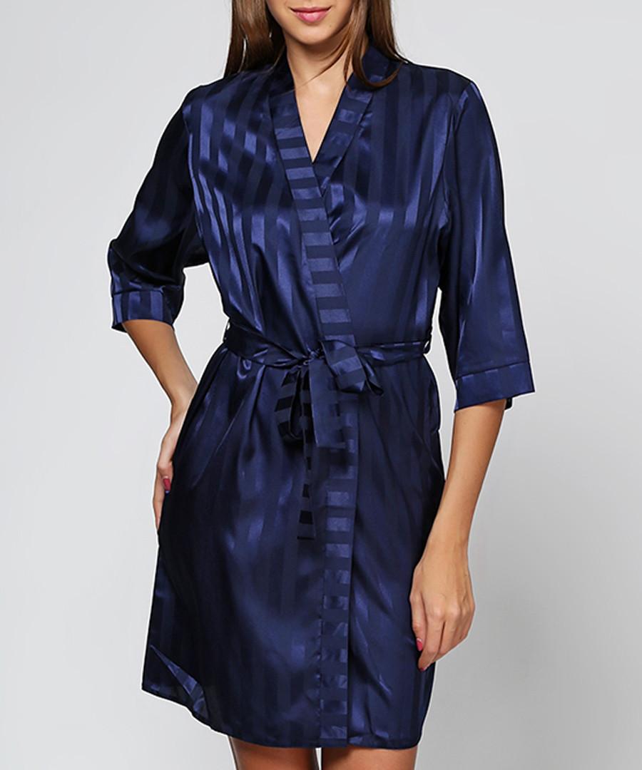 Discount Navy stripe dressing gown | SECRETSALES