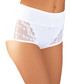 White cotton lace panel hi-rise briefs Sale - INTIMATES Sale