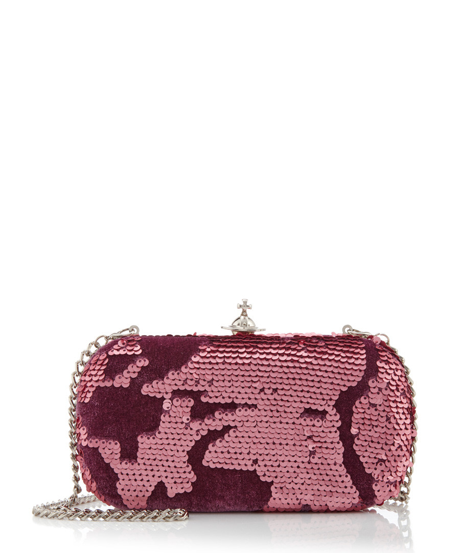 a769e28615a ... Rome pink sequined velvet clutch bag Sale - vivienne westwood ...
