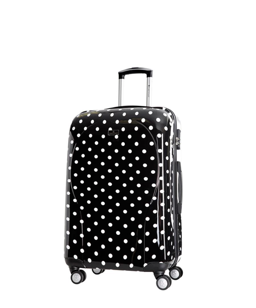 Black polka dot spinner suitcase 60cm Sale - platinium