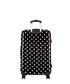 Black polka dot spinner suitcase 60cm Sale - platinium Sale