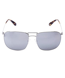 Grey silver-tone sunglasses