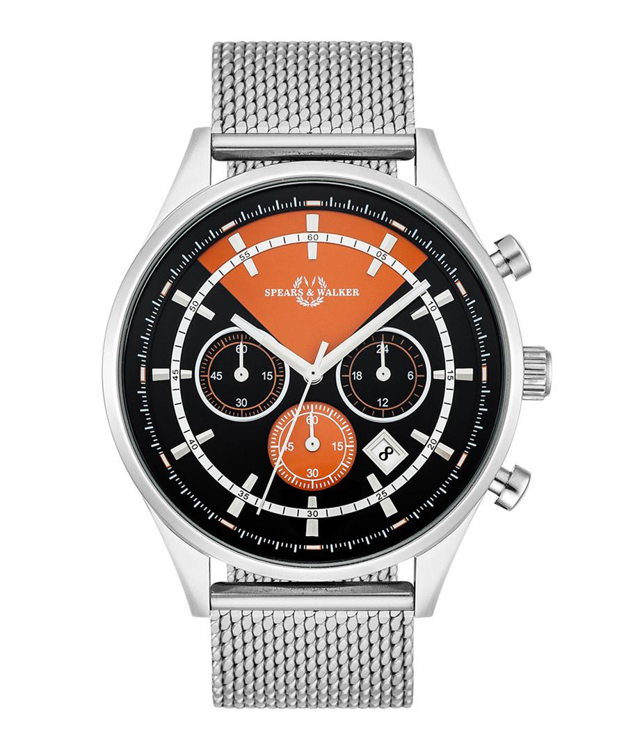 Power Racer silver-tone steel watch Sale - spears & walker