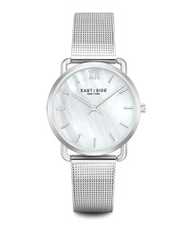 Pearl mother of pearl steel watch