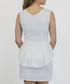 White lace peplum sleeveless mini dress Sale - zibi london Sale