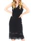 Black V-neck lace sleeveless dress Sale - zibi london Sale