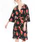 Black floral print wrap dress Sale - zibi london Sale