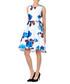 White & blue floral hi-lo dress Sale - zibi london Sale