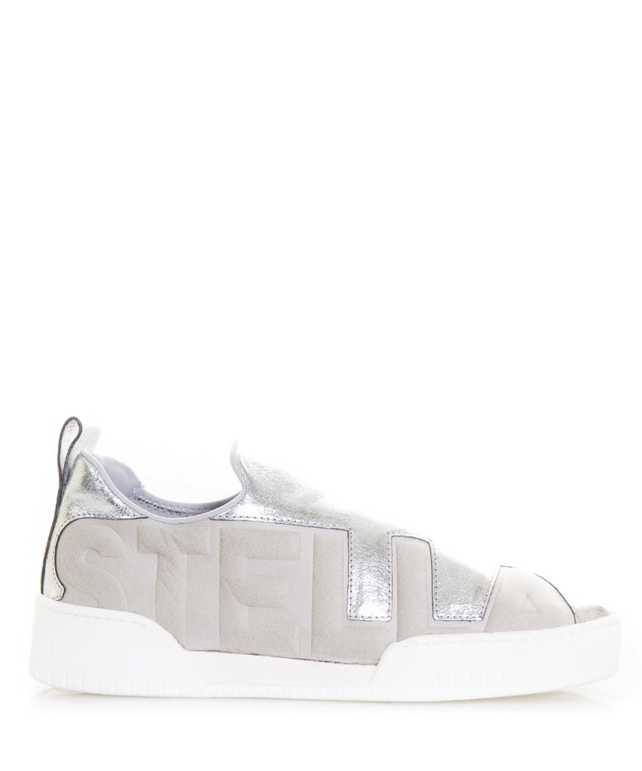 Eclypse silver lace-up sneakers Sale - stella mccartney