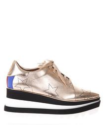 Elyse rose gold-tone wedge sneakers