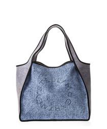 Blue & blush logo shoulder bag