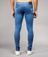 Mid-wash blue cotton blend ripped jeans Sale - criminal damage Sale