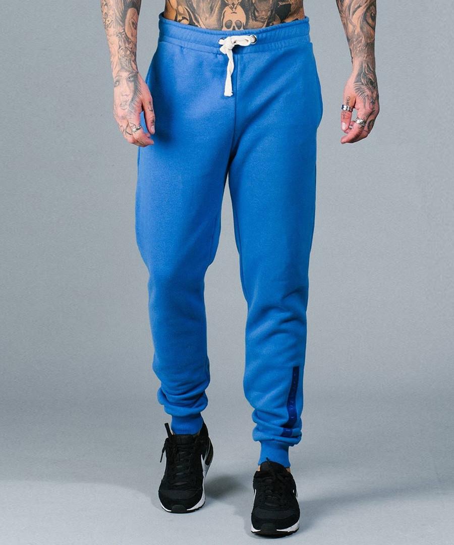 Hiber blue cotton blend joggers  Sale - criminal damage