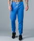 Hiber blue cotton blend joggers  Sale - criminal damage Sale