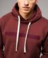 Hiber burgundy cotton blend hoodie Sale - criminal damage Sale