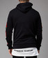 Rosa black cotton rose sleeve hoodie Sale - criminal damage Sale
