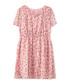 Frill Heart dusty pink print dress Sale - yumi girls Sale