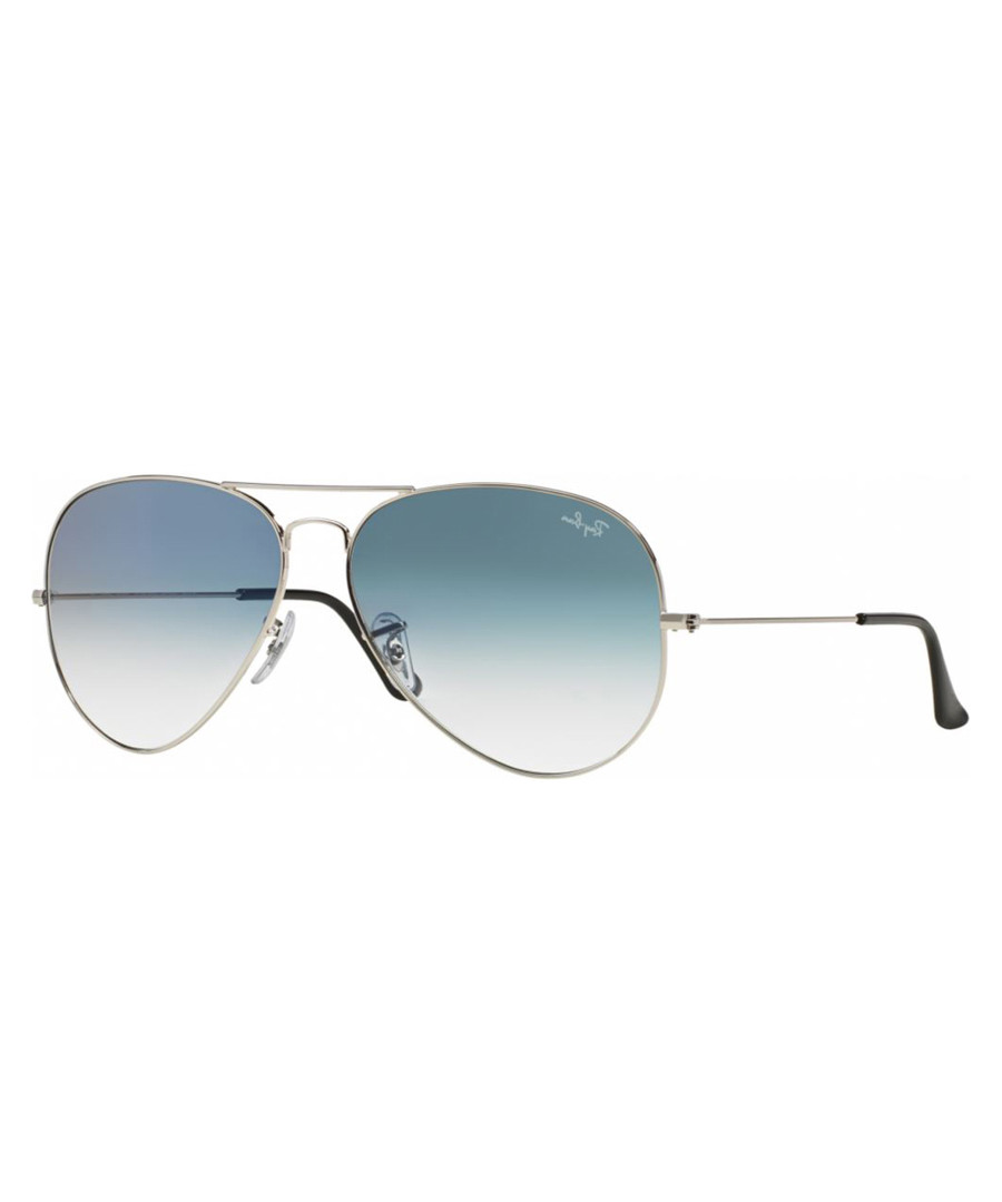 Silver-tone & blue gradiated sunglasses Sale - ray-ban