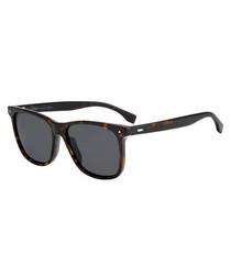 Tortoiseshell & grey D-frame sunglasses