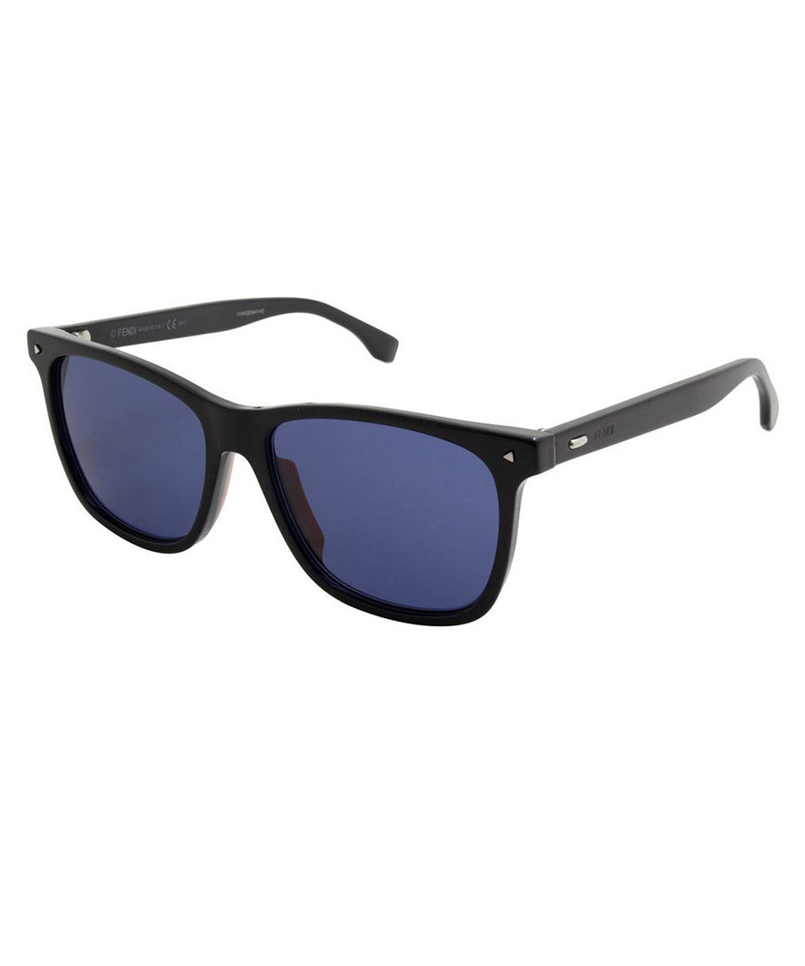 Black & grey D-frame sunglasses Sale - fendi
