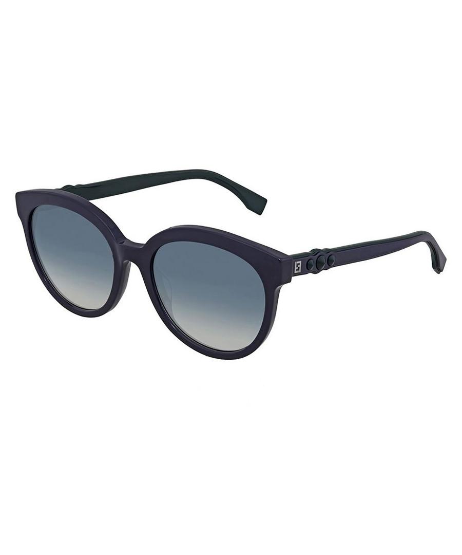 Navy rounded frame sunglasses Sale - fendi