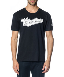 Black pure cotton logo T-shirt