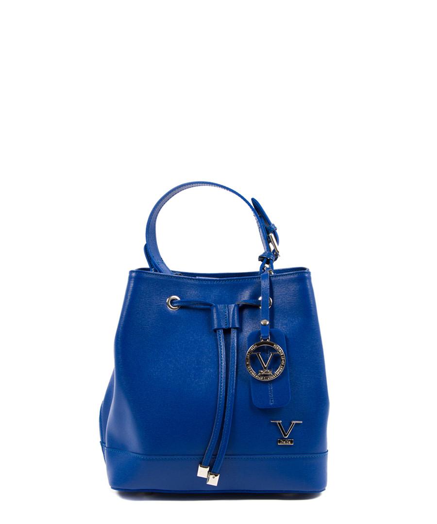 Blue leather bucket bag Sale - v italia by versace 1969 abbigliamento sportivo srl milano italia