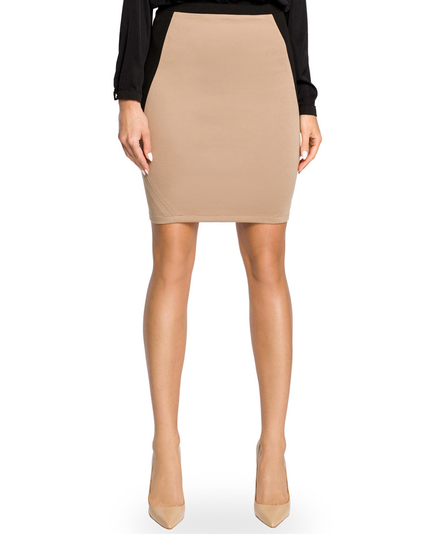 Cappuccino cotton blend mini skirt Sale - made of emotion