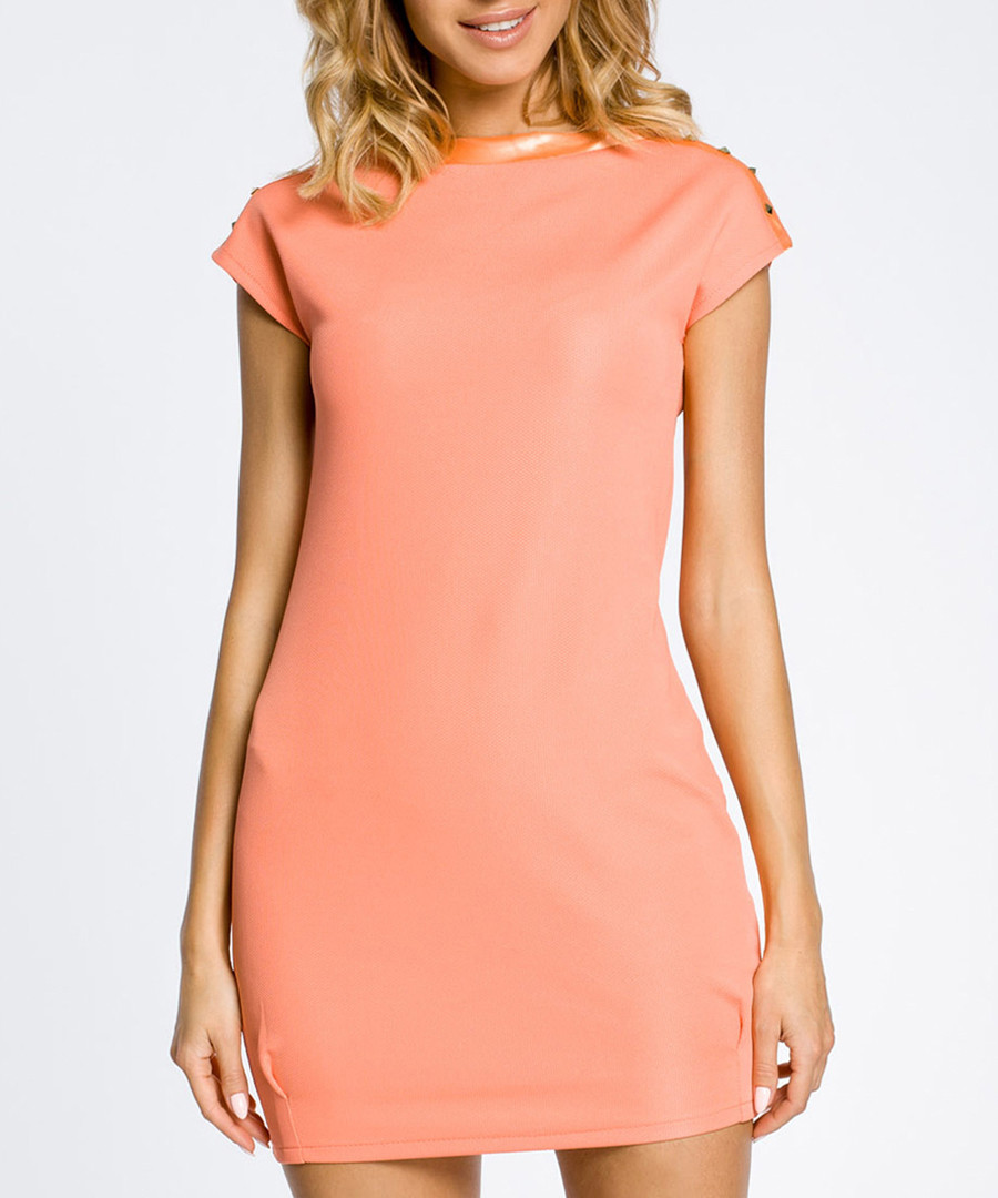 Coral short sleeve mini dress Sale - made of emotion