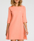 Coral 3/4 sleeve A-line dress Sale - made of emotion Sale