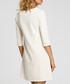 Ecru 3/4 sleeve A-line dress Sale - made of emotion Sale