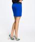 Royal blue cotton blend mini skirt Sale - made of emotion Sale
