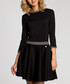 Black 3/4 sleeve mini dress Sale - made of emotion Sale