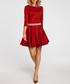 Red 3/4 sleeve mini dress Sale - made of emotion Sale
