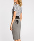 Grey cotton blend pencil skirt Sale - made of emotion Sale