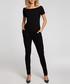 Black boat neck T-shirt jumpsuit Sale - made of emotion Sale