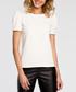 Ecru short puff sleeve blouse Sale - made of emotion Sale