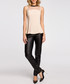 Beige mesh panel sleeveless blouse Sale - made of emotion Sale
