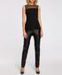 Black mesh panel sleeveless blouse Sale - made of emotion Sale
