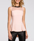 Pink mesh panel sleeveless blouse Sale - made of emotion Sale