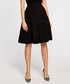 Black pleated knee-length skirt Sale - made of emotion Sale