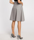 Grey pleated knee-length skirt Sale - made of emotion Sale